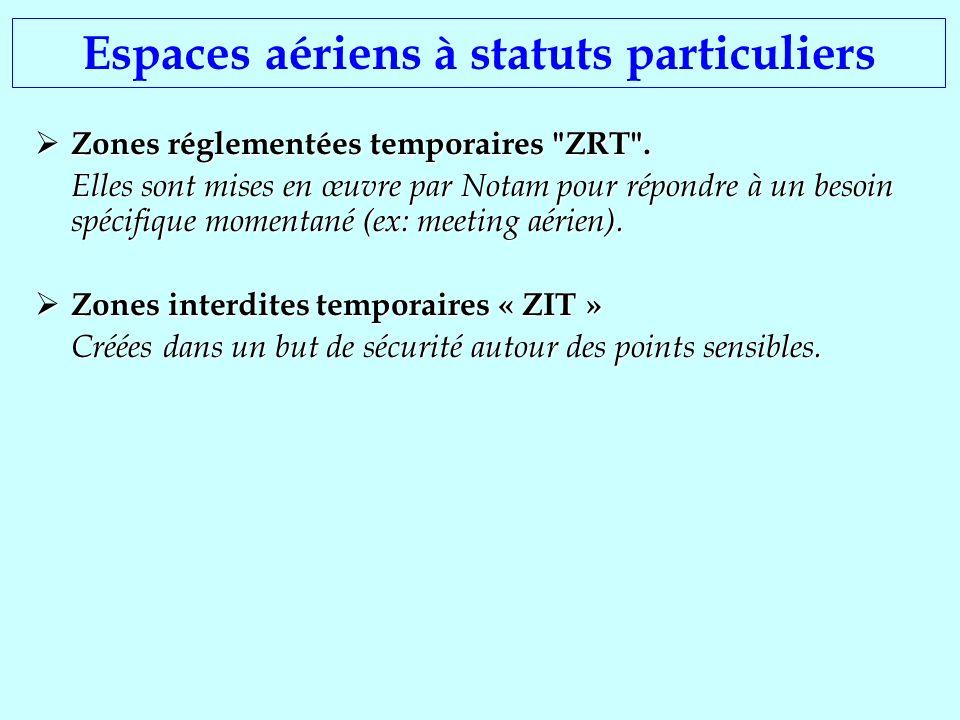 Espaces aériens à statuts particuliers