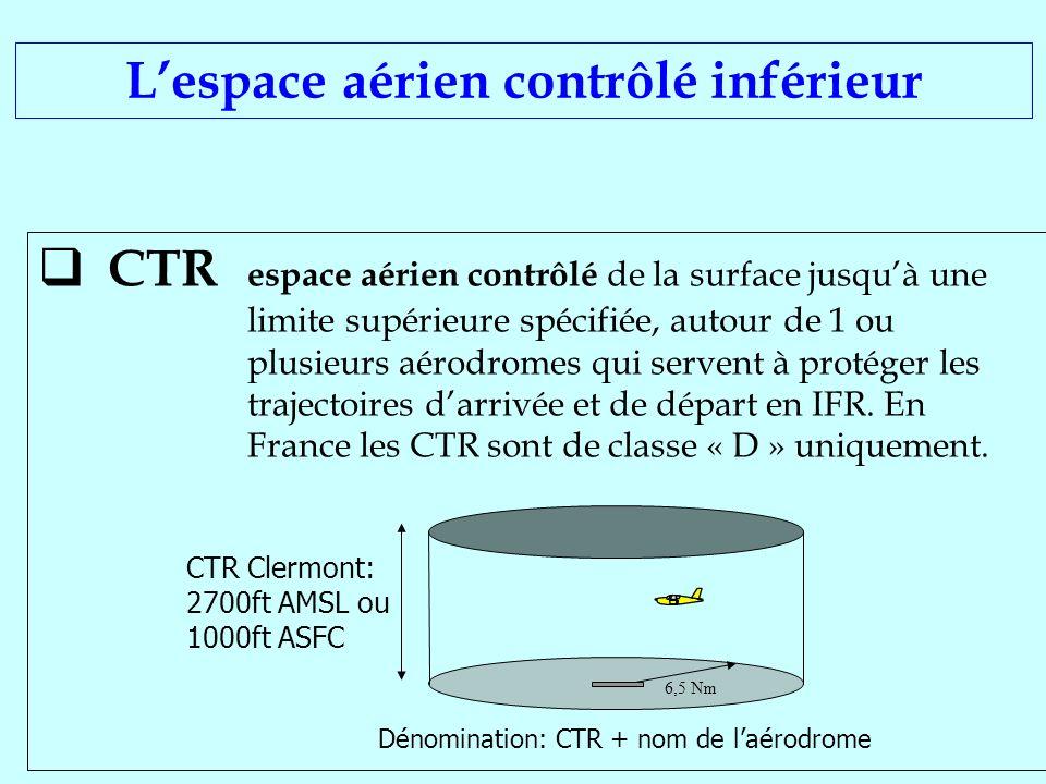 L'espace aérien contrôlé inférieur