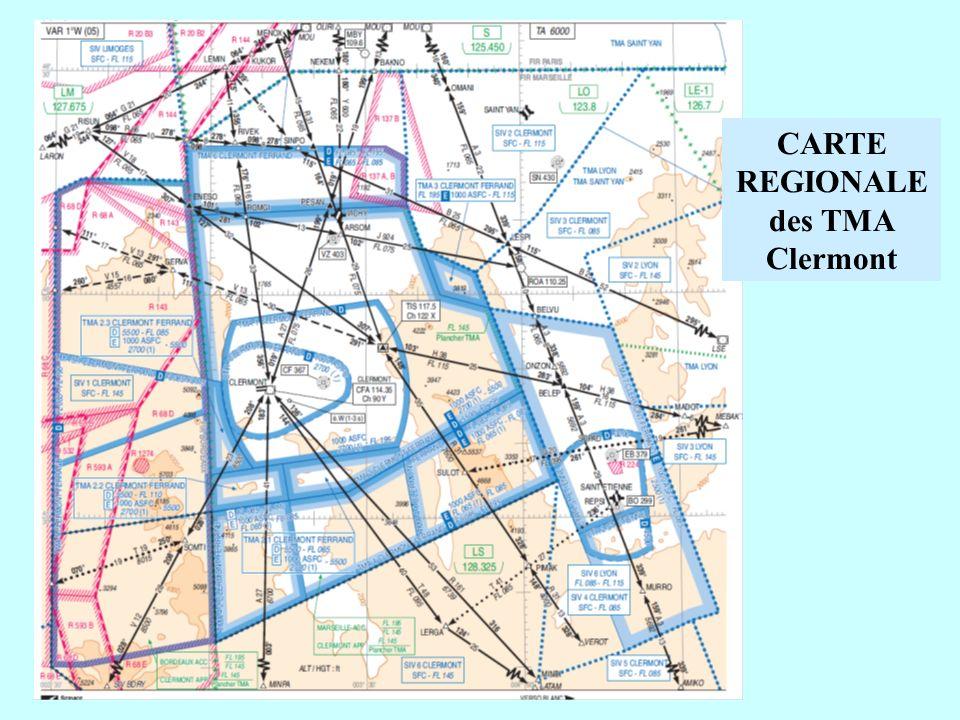 CARTE REGIONALE des TMA Clermont