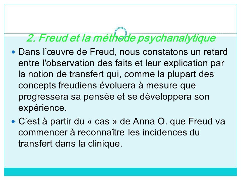 2. Freud et la méthode psychanalytique