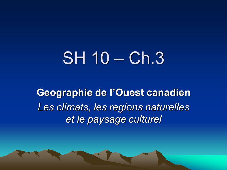 Geographie de l'Ouest canadien