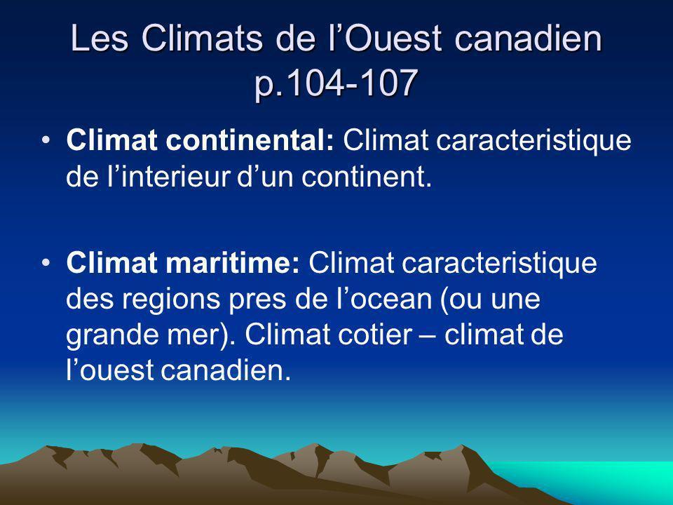 Les Climats de l'Ouest canadien p.104-107