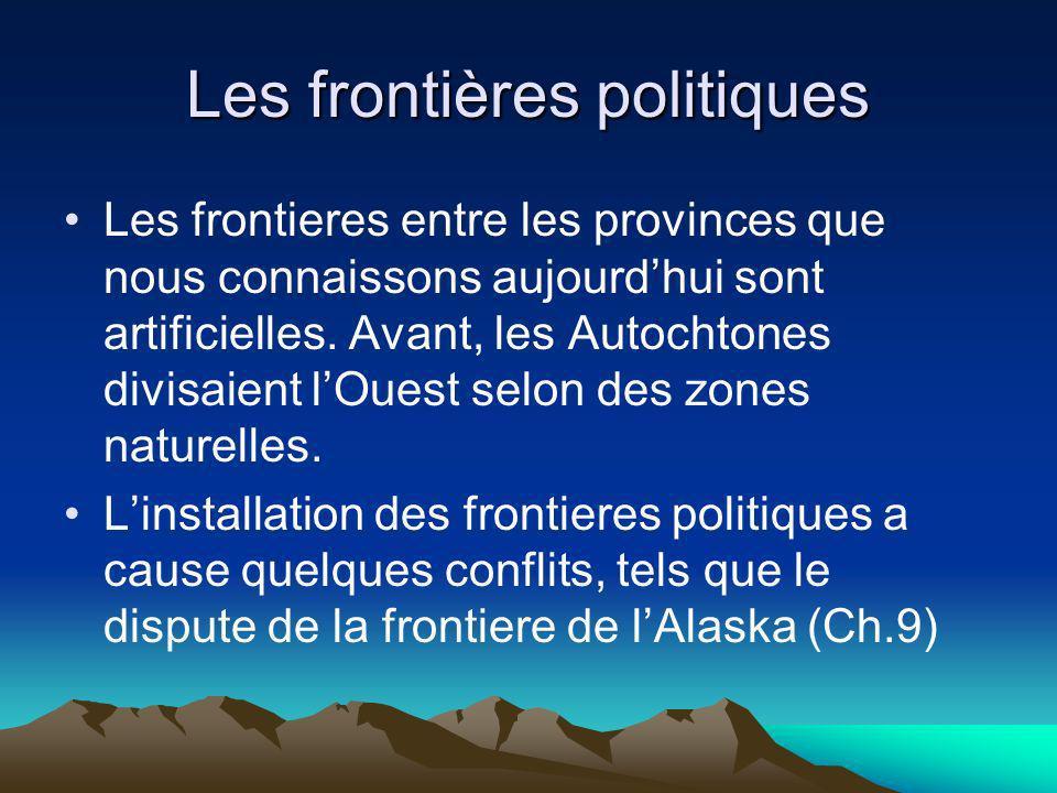 Les frontières politiques