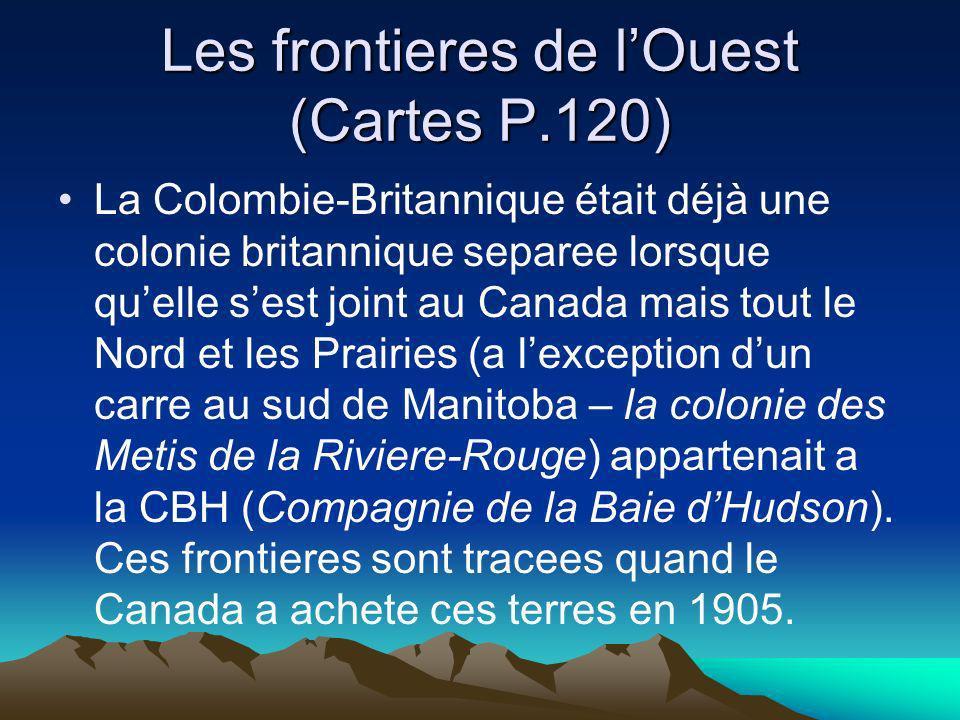 Les frontieres de l'Ouest (Cartes P.120)