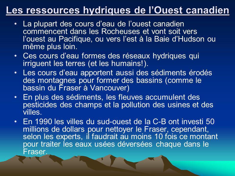 Les ressources hydriques de l'Ouest canadien