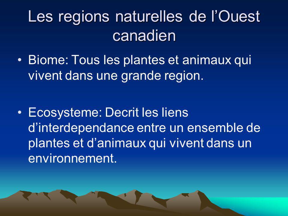 Les regions naturelles de l'Ouest canadien