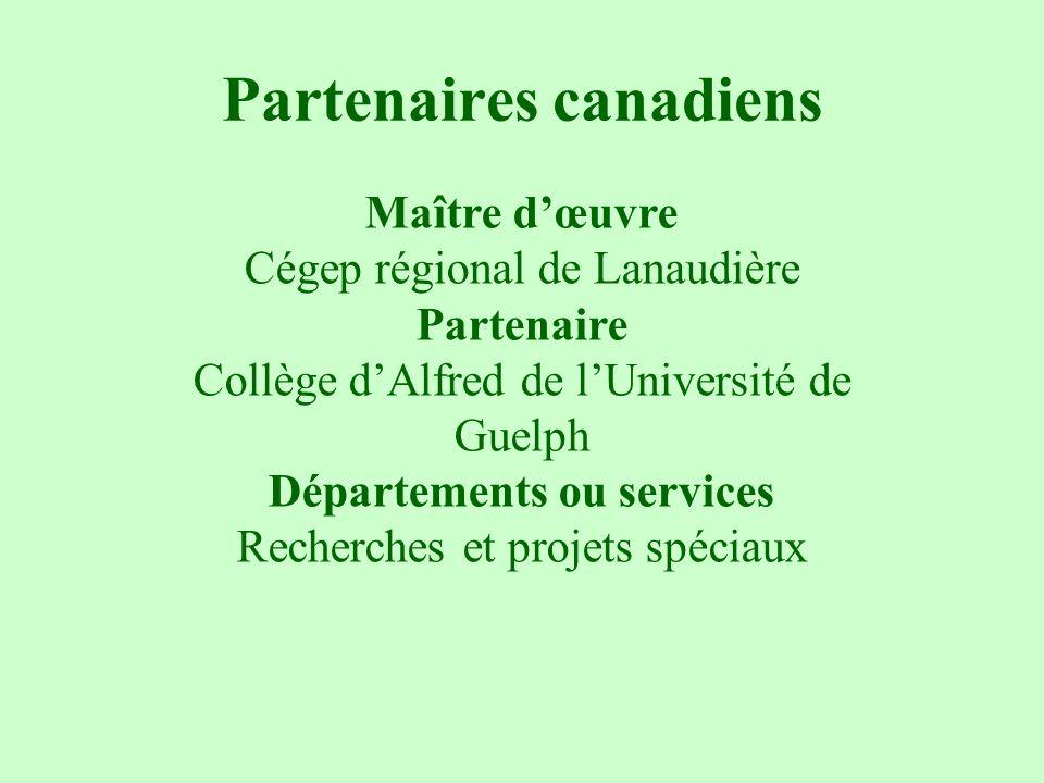 Partenaires canadiens
