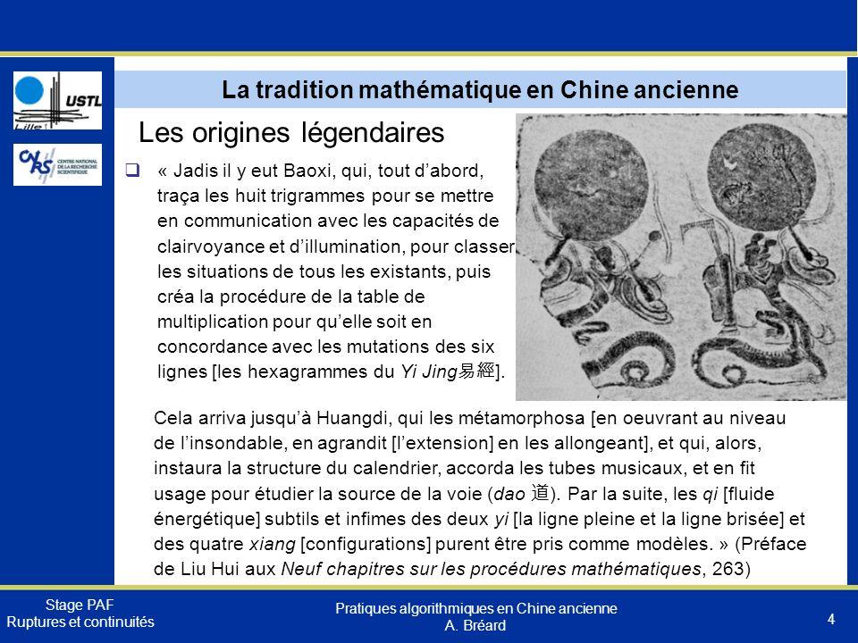 La tradition mathématique en Chine ancienne