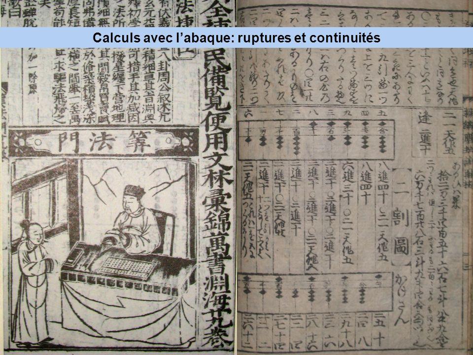 Calculs avec l'abaque: ruptures et continuités