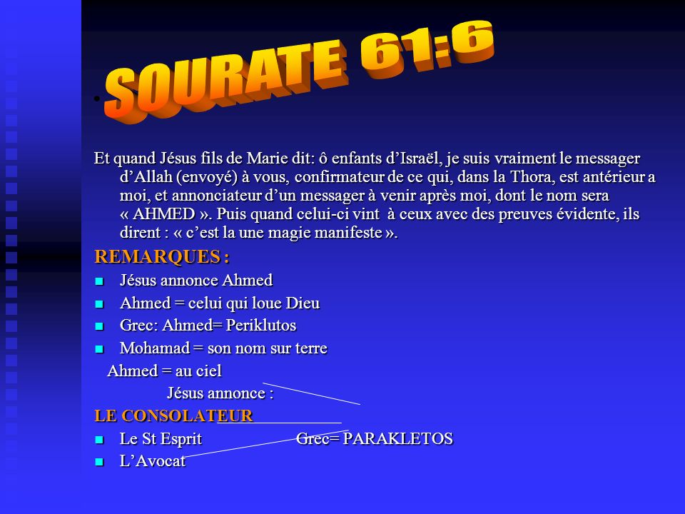 SOURATE 61:6 .