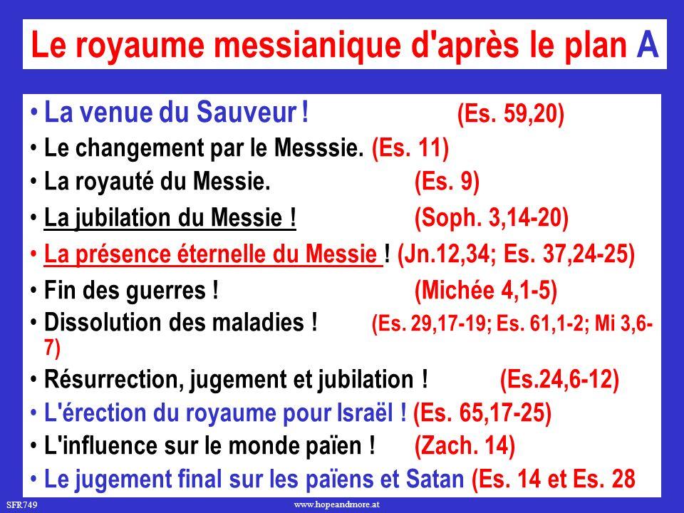 Le royaume messianique d après le plan A