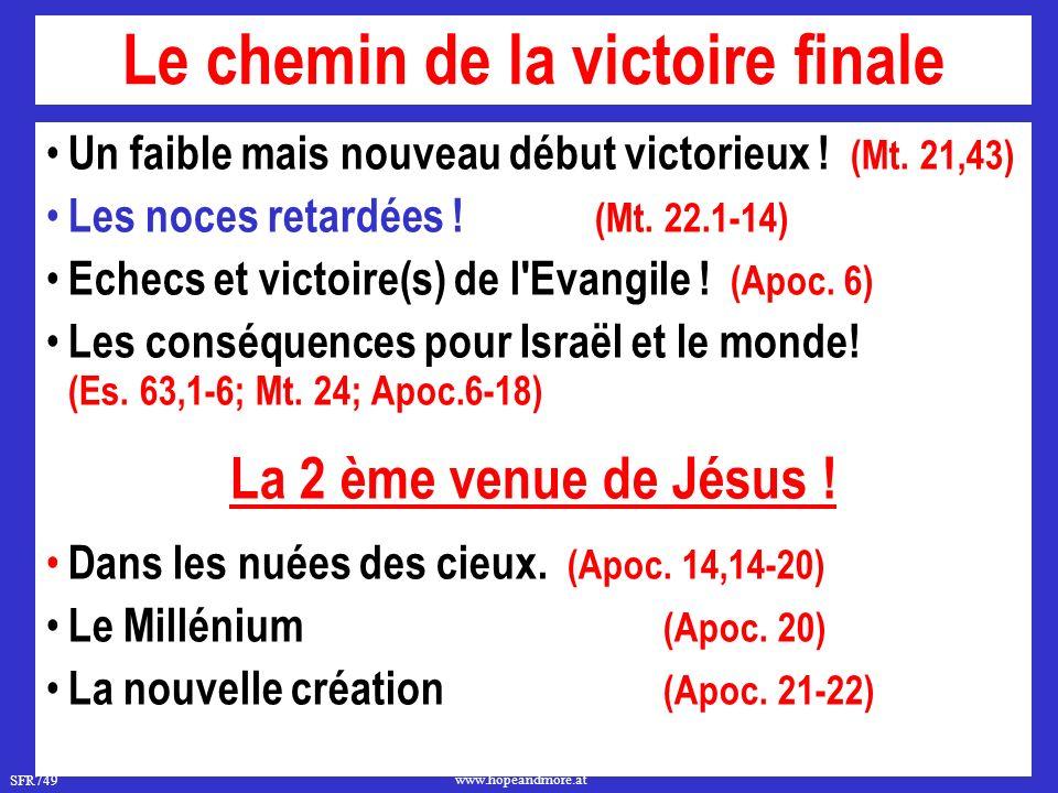 Le chemin de la victoire finale