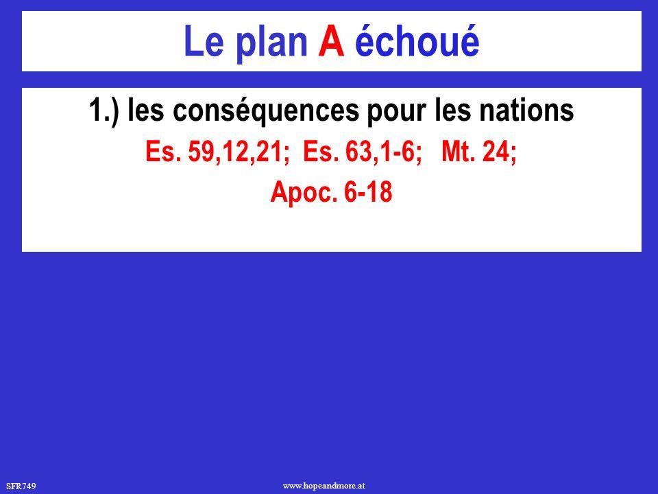 1.) les conséquences pour les nations