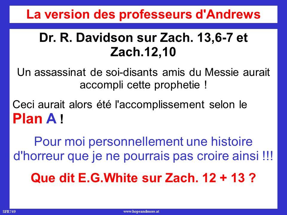 La version des professeurs d Andrews