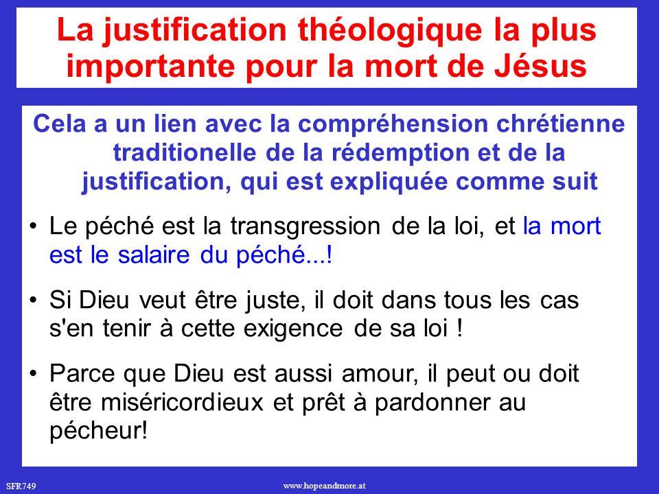 La justification théologique la plus importante pour la mort de Jésus