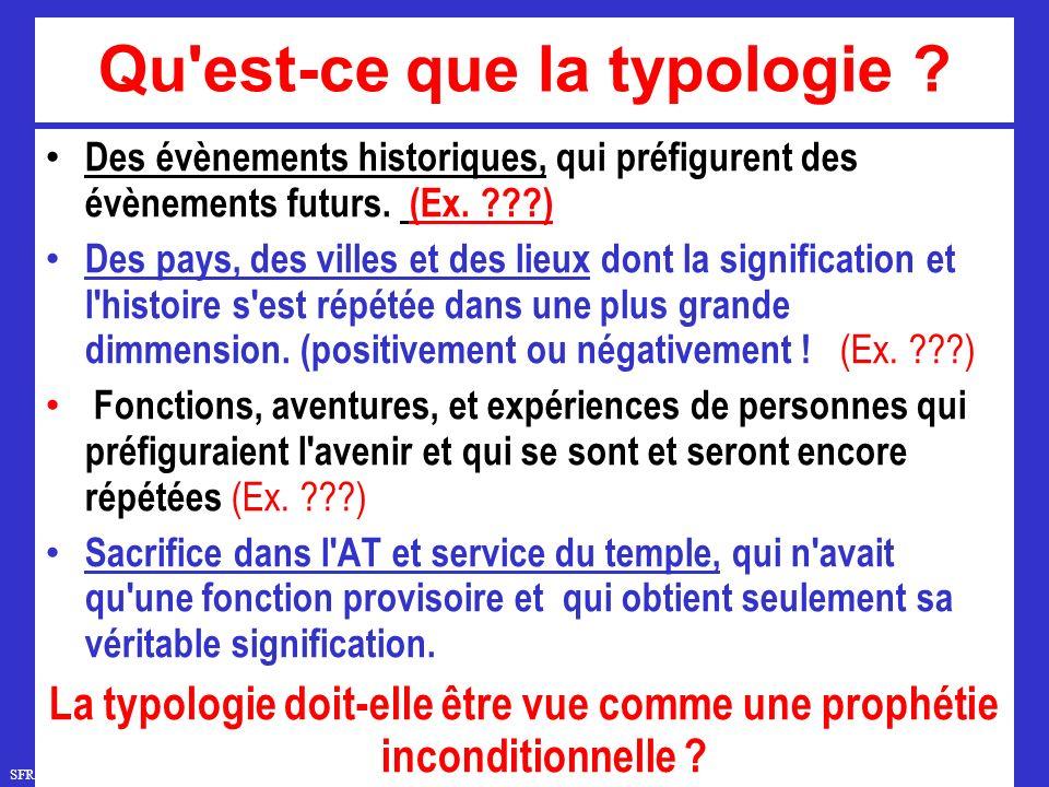 Qu est-ce que la typologie