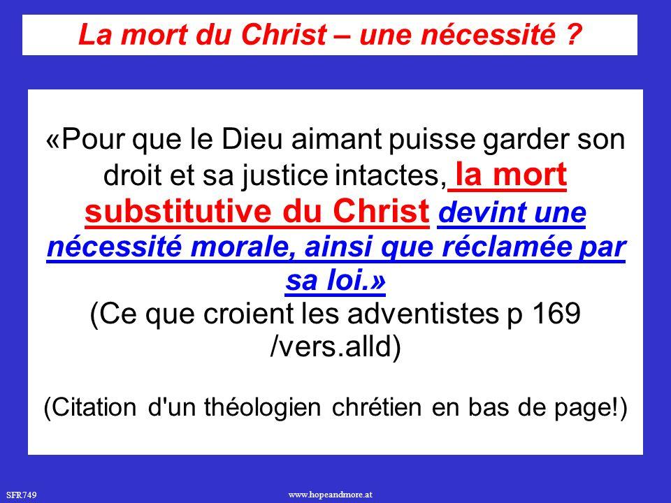 La mort du Christ – une nécessité