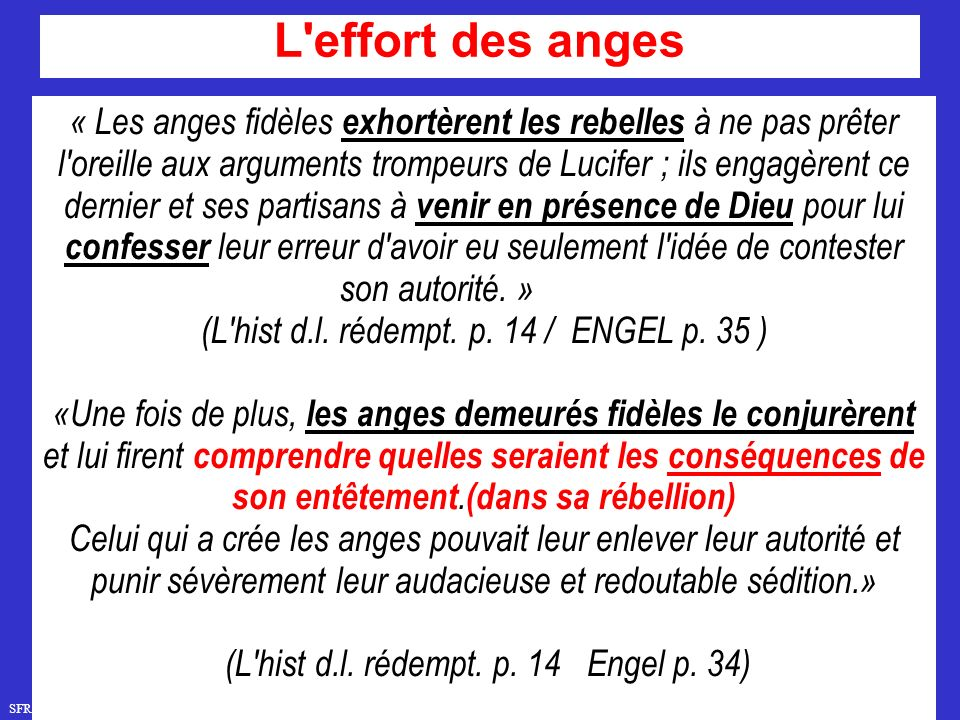 L effort des anges