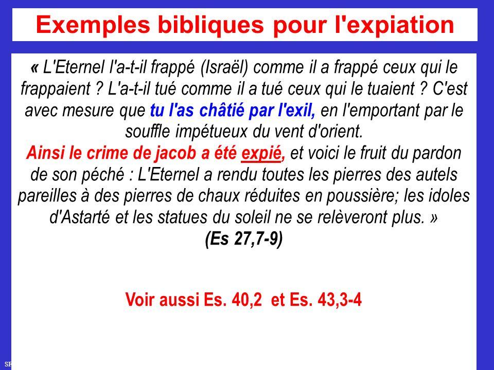Exemples bibliques pour l expiation