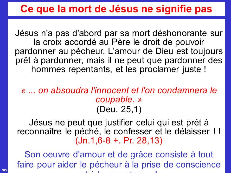 Ce que la mort de Jésus ne signifie pas