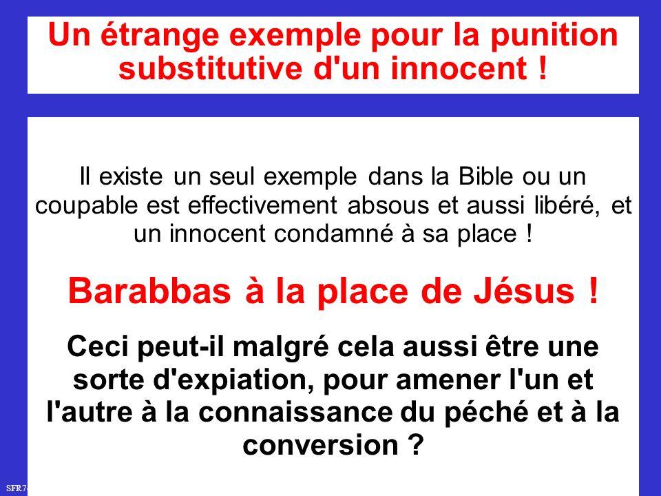 Barabbas à la place de Jésus !