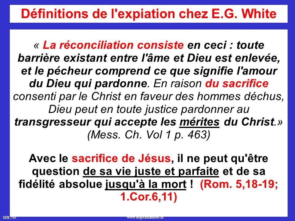 Définitions de l expiation chez E.G. White
