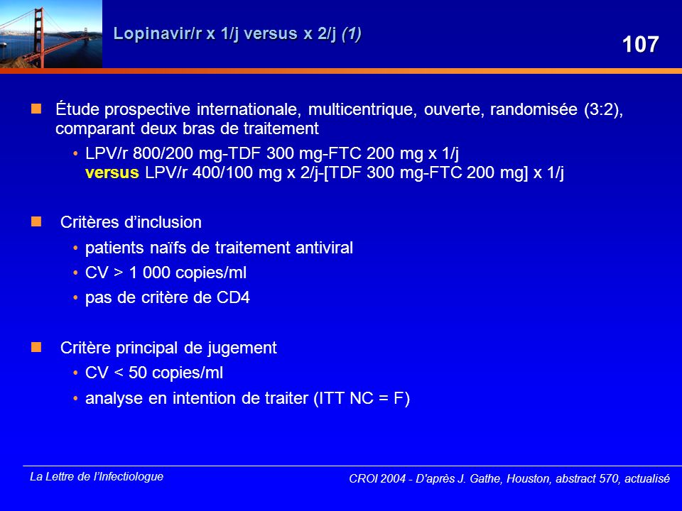 Lopinavir/r x 1/j versus x 2/j (1)