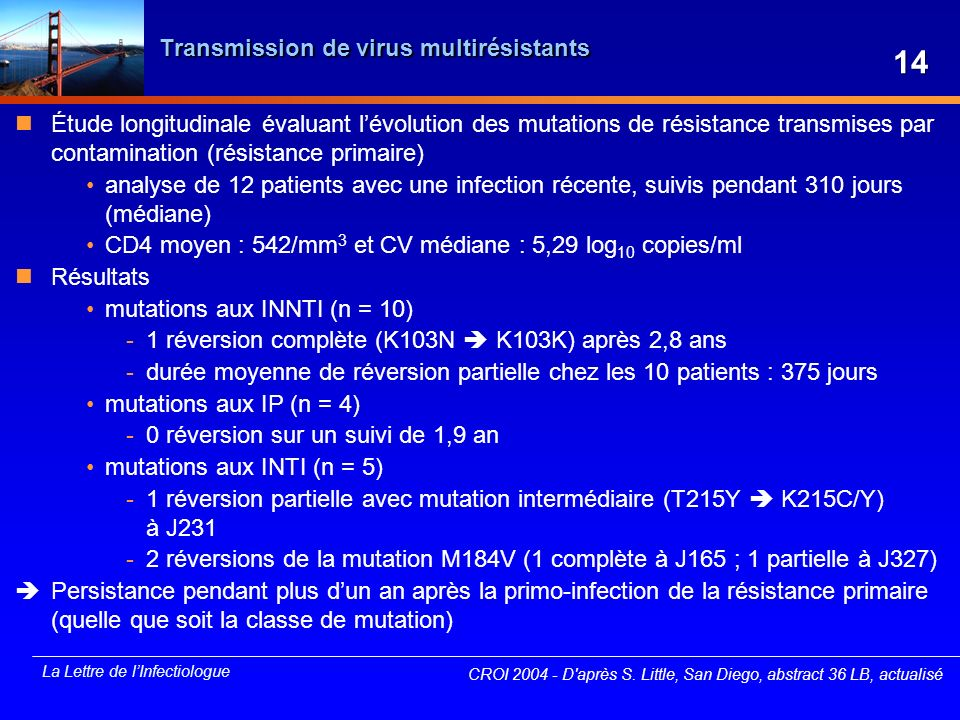 Transmission de virus multirésistants