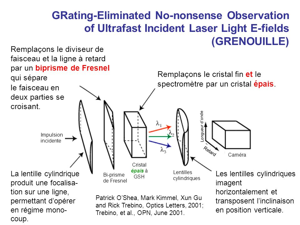 GRating-Eliminated No-nonsense Observation of Ultrafast Incident Laser Light E-fields (GRENOUILLE)