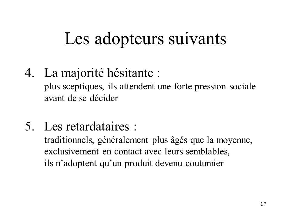 Les adopteurs suivants
