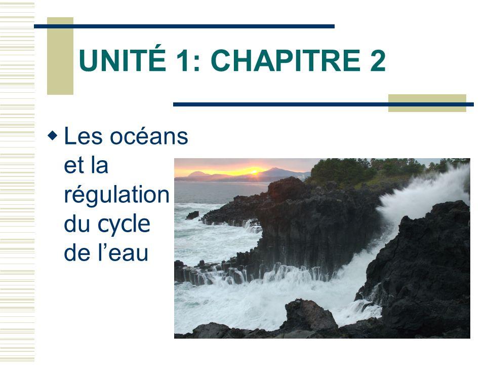 UNITÉ 1: CHAPITRE 2 Les océans et la régulation du cycle de l'eau
