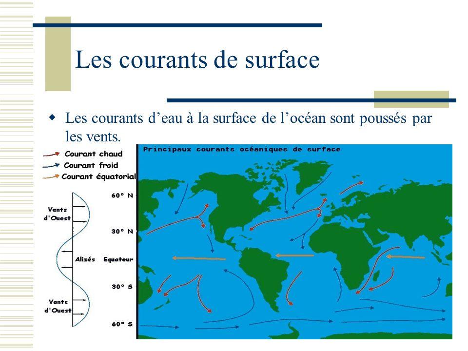 Les courants de surface