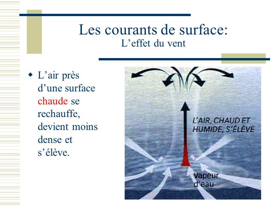 Les courants de surface: L'effet du vent