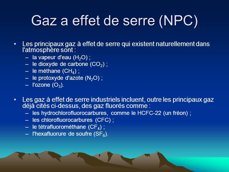 Gaz a effet de serre (NPC)
