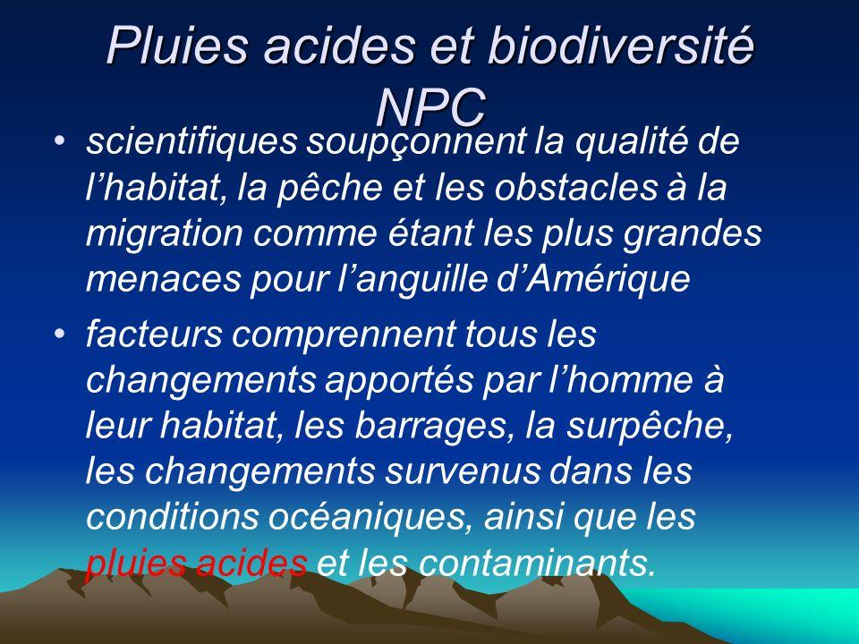 Pluies acides et biodiversité NPC