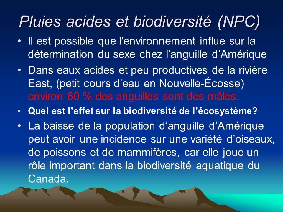 Pluies acides et biodiversité (NPC)