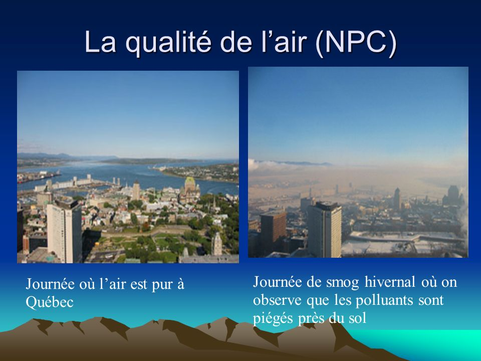La qualité de l'air (NPC)