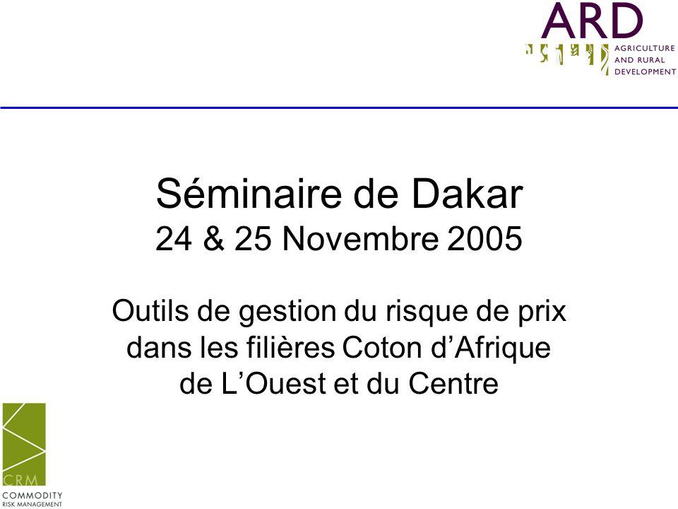Séminaire de Dakar 24 & 25 Novembre 2005