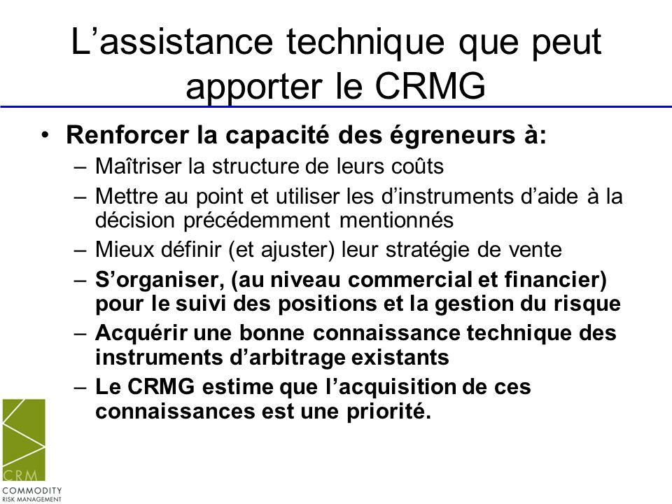 L'assistance technique que peut apporter le CRMG
