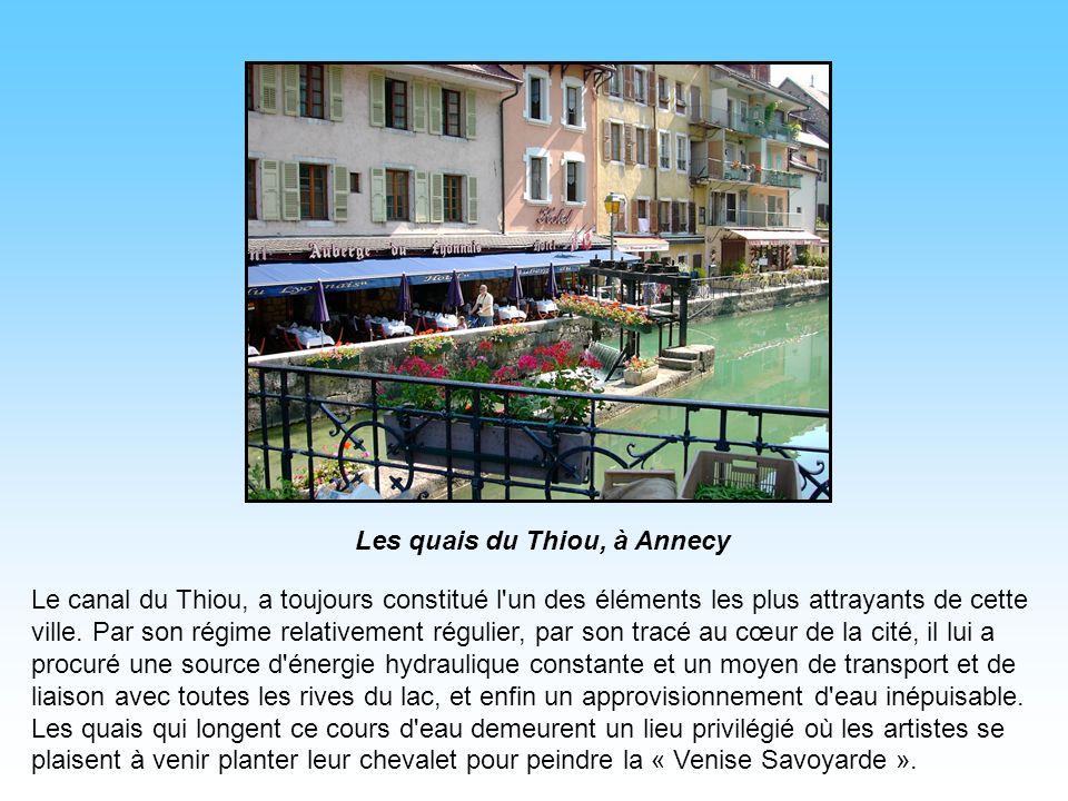 Les quais du Thiou, à Annecy