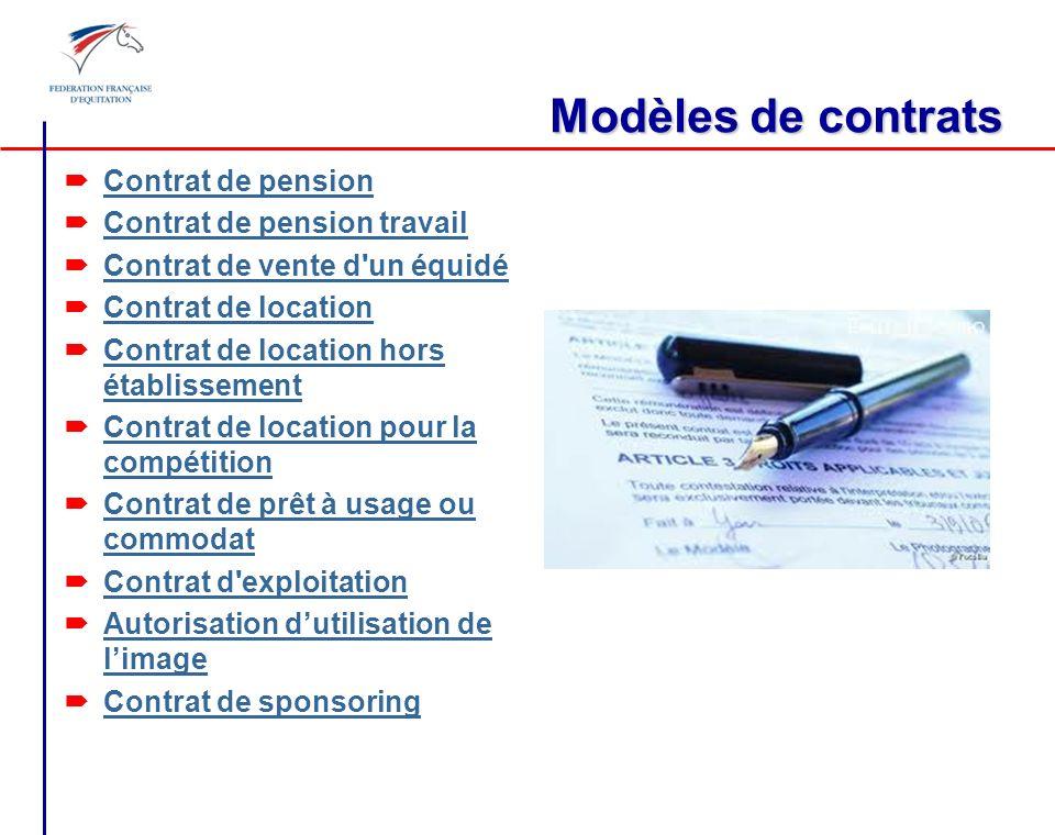 Modèles de contrats Contrat de pension Contrat de pension travail