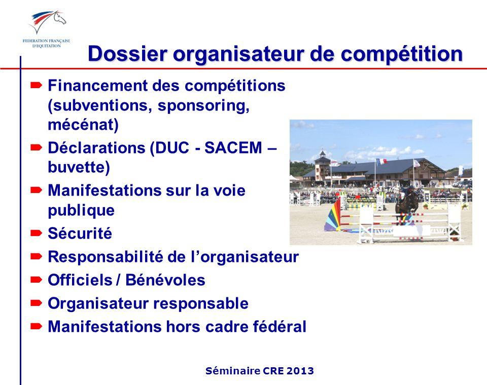 Dossier organisateur de compétition