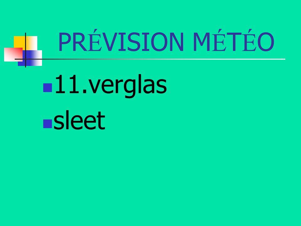 PRÉVISION MÉTÉO 11.verglas sleet