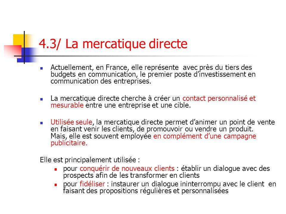 4.3/ La mercatique directe