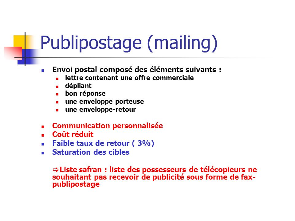 Publipostage (mailing)