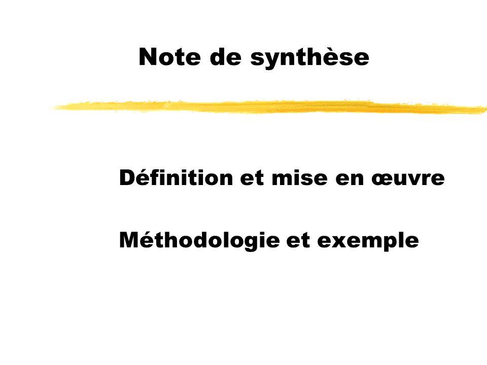 Définition et mise en œuvre Méthodologie et exemple