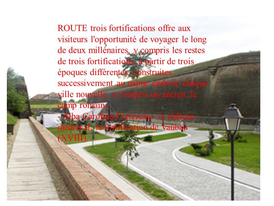 ROUTE trois fortifications offre aux visiteurs l opportunité de voyager le long de deux millénaires, y compris les restes de trois fortifications, à partir de trois époques différentes, construites successivement au même endroit, chaque ville nouvelle, y compris un ancien: le camp romain,-