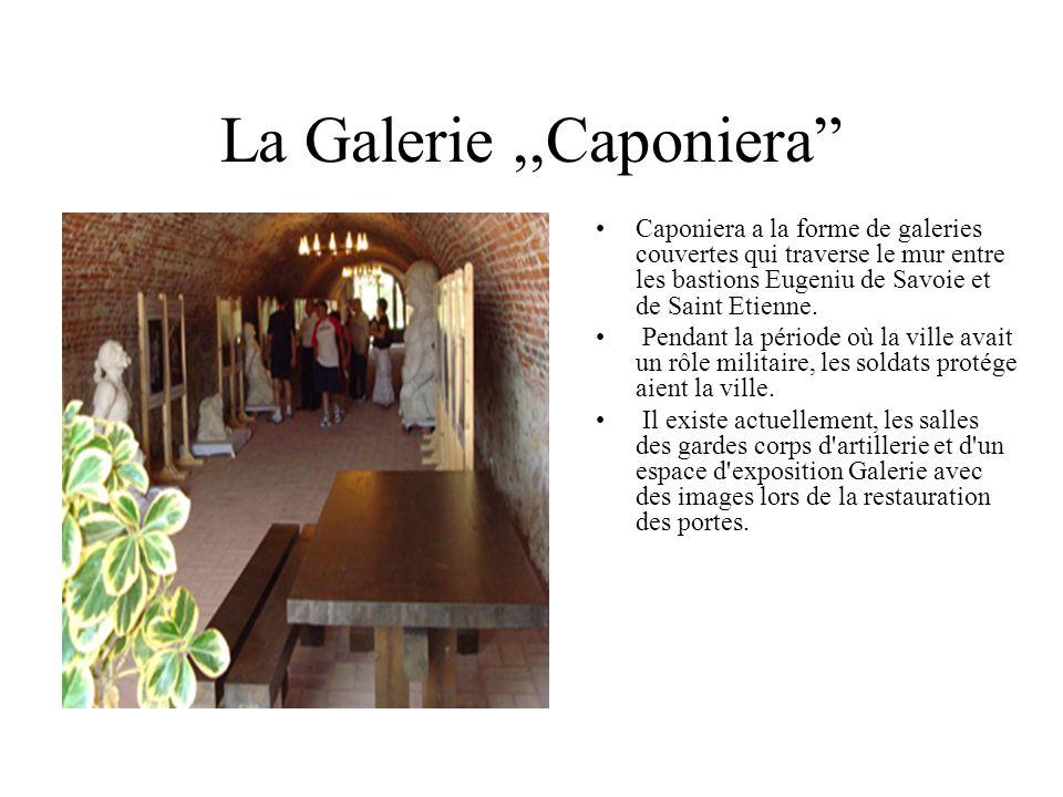 La Galerie ,,Caponiera Caponiera a la forme de galeries couvertes qui traverse le mur entre les bastions Eugeniu de Savoie et de Saint Etienne.