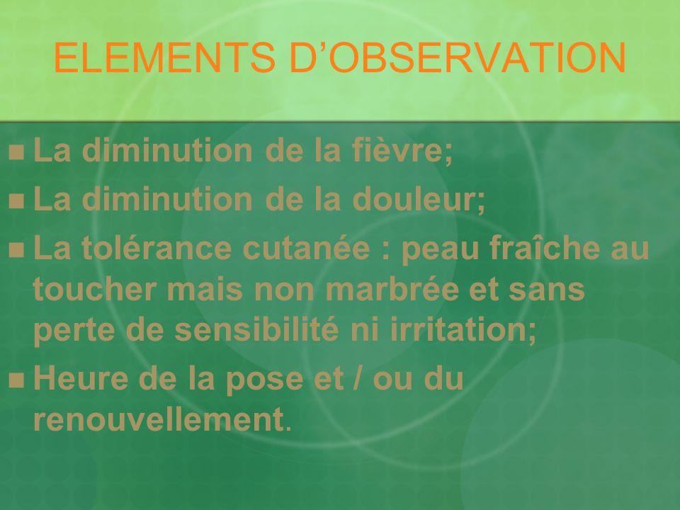 ELEMENTS D'OBSERVATION