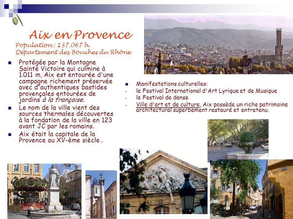 Aix en Provence Population : 137. 067 h